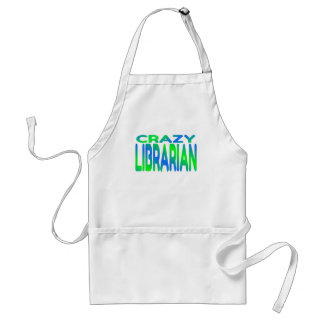 Crazy Librarian Adult Apron