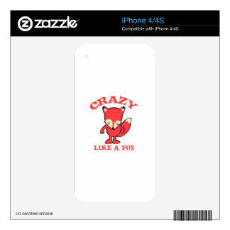 CRAZY LIKE A FOX SKIN FOR iPhone 4