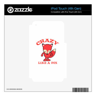 CRAZY LIKE A FOX iPod TOUCH 4G DECAL