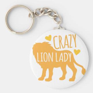 crazy lion lady keychain