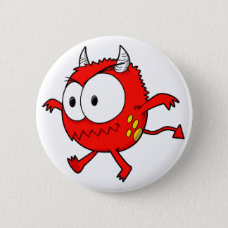 Crazy Little Devil Monster  Button