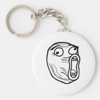 Crazy Lol Comic Meme Keychain