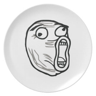 Crazy Lol Comic Meme Melamine Plate