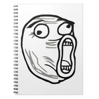 Crazy Lol Comic Meme Notebook