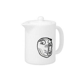 Crazy Lol Comic Meme Teapot