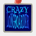 Crazy Longboarder Christmas Tree Ornament