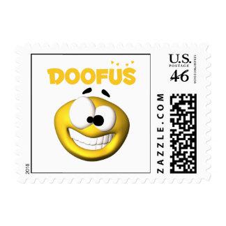 Crazy Looking Doofus Face Postage Stamp