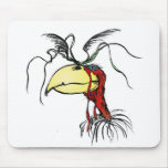 Crazy Looking Harpie Vulture Bird with Red-Neck Mouse Pad
