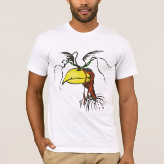 Crazy Looking Harpie Vulture Bird with Red-Neck T-Shirt