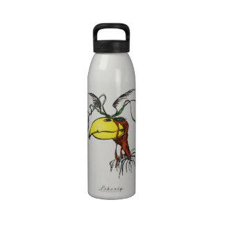 Crazy Looking Harpie Vulture Bird with Red-Neck Water Bottles