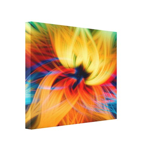Crazy Lotus Canvas Print