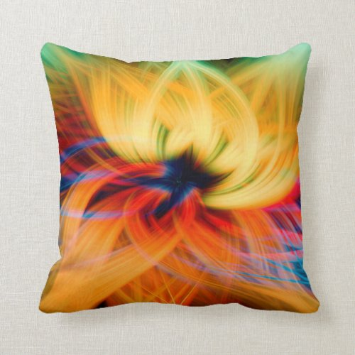 Crazy Lotus Throw Pillow