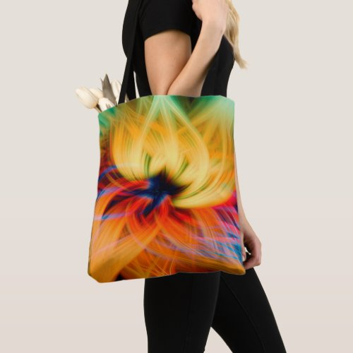 Crazy Lotus Tote Bag