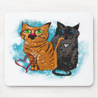 Crazy Love Cats Mouse Pad