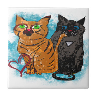 Crazy Love Cats Tiles
