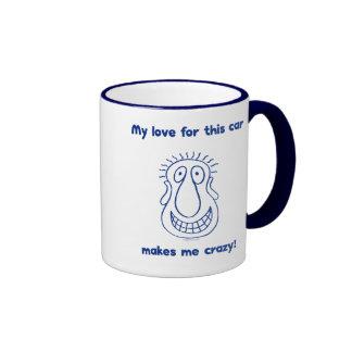 Crazy Love For Cars Ringer Mug
