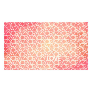 Crazy Love Funky Watercolor Text Design Pattern Business Card