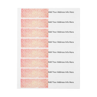 Crazy Love Funky Watercolor Text Design Pattern Wrap Around Address Label