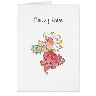 CRAZY LOVE Greeting Card by April McCallum