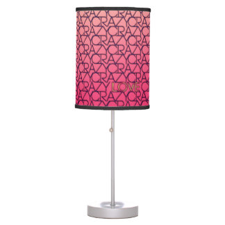 Crazy Love Typograpgy Neon Pink & Peach Lamp