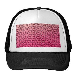 Crazy Love Typograpgy Neon Pink & Peach Trucker Hat