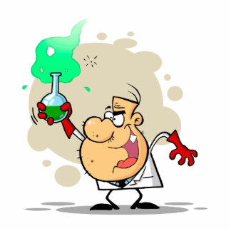 crazy mad scientist cartoon photo cutouts