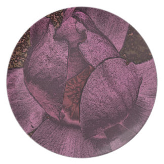 Crazy Magnolia Collection Melamine Plate