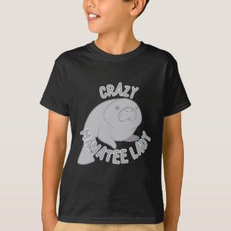 crazy manatee lady T-Shirt