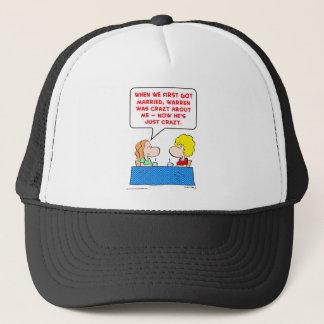 crazy married trucker hat