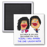 Crazy Marrying My Best Friend 2 Inch Square Magnet