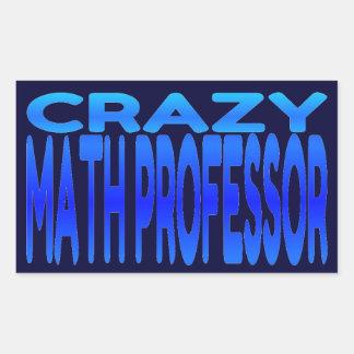 Crazy Math Professor Rectangular Sticker