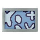 Crazy Maths Symbols - Blue Hebillas De Cinturon