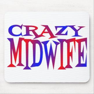 Crazy Midwife Mousepad