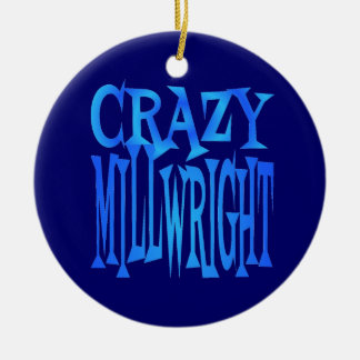 Crazy Millwright Double-Sided Ceramic Round Christmas Ornament