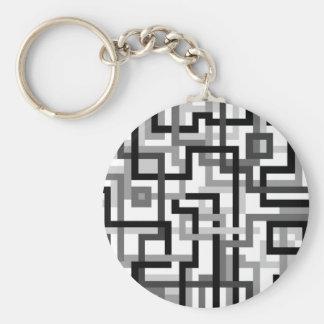Crazy modern Art pattern Basic Round Button Keychain