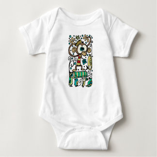 Crazy Monkey and Birds Baby Bodysuit