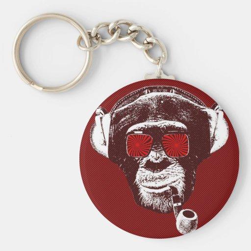 Crazy monkey llavero redondo tipo pin