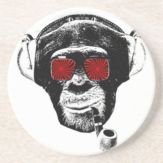 Crazy monkey sandstone coaster