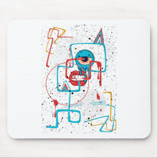 Crazy Monster Face Funny Mouse Pad