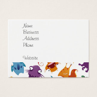 Crazy Monsters Fun Colorful Patterns for Kids Business Card