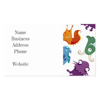 Crazy Monsters Fun Colorful Patterns for Kids Business Cards