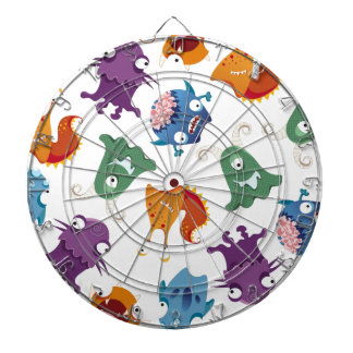 Crazy Monsters Fun Colorful Patterns for Kids Dartboard