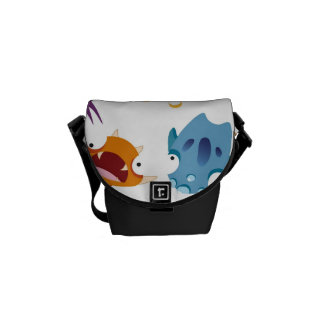 Crazy Monsters Fun Colorful Patterns for Kids Courier Bags