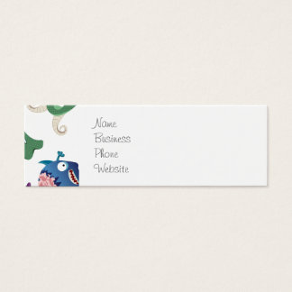Crazy Monsters Fun Colorful Patterns for Kids Mini Business Card