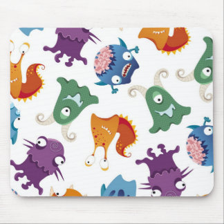 Crazy Monsters Fun Colorful Patterns for Kids Mouse Pad