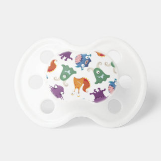 Crazy Monsters Fun Colorful Patterns for Kids Pacifier