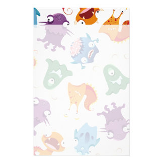 Crazy Monsters Fun Colorful Patterns for Kids Stationery