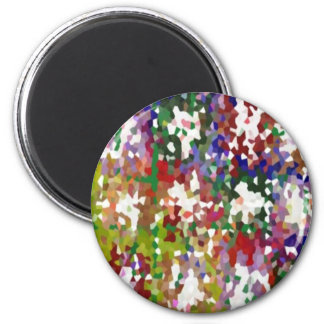 Crazy Moon Maniac Artistic Transformations 2 Inch Round Magnet