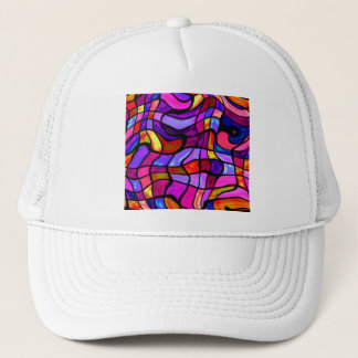 Crazy Mosaic Colorful Collision Trucker Hat
