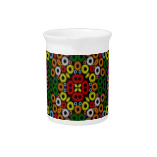 crazy mosaic rings drink pitcher